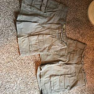 2 Pairs Cabela Khaki Shorts